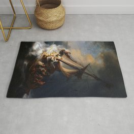 Stolen Painting - The Storm on the Sea of Galilee by Rembrandt Rug