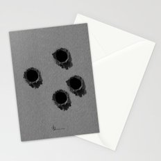 Bullet holes Stationery Cards