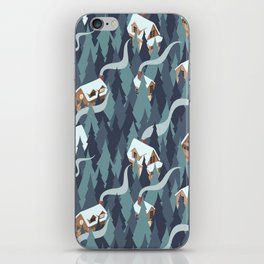 Forest Cabins iPhone Skin