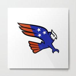 American Owl Swooping Mascot Metal Print