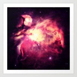 Orion Nebula Warm Art Print