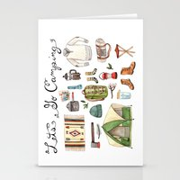 backpack Stationery Cards featuring Let's Go Camping by Brooke Weeber