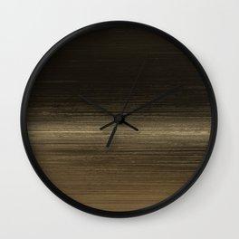 Algorithmic Linen Dark Copper Gold Wall Clock