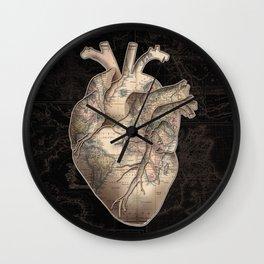 adventure heart-world map Wall Clock