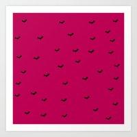 bats Art Prints featuring Bats by Monocromo