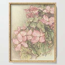 Satomi Dogwood, Pencil Sketch II Serving Tray