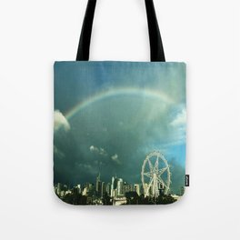 Rainbow over Melbourne Tote Bag