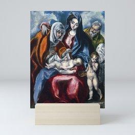 "El Greco (Domenikos Theotokopoulos) ""The Holy Family with Saint Anne and the Infant John the Baptis"" Mini Art Print"