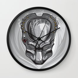 Wolf predator mask Wall Clock
