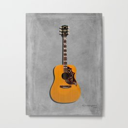 The Hummingbird Acoustic Guitar Metal Print
