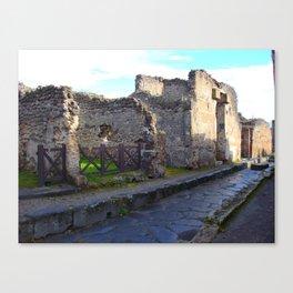 Pompeii Ancient Dwelling - 2 Canvas Print