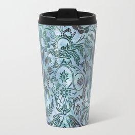 Watercolor Damask Pattern 08 Travel Mug