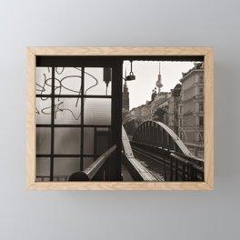 BERLIN TELETOWER - urban landscape Framed Mini Art Print