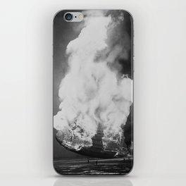 Hindenburg in flames iPhone Skin