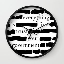 Trust Your Government Wall Clock
