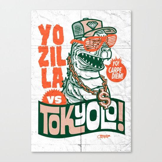 Tokyolo (YOZILLA variant) Canvas Print