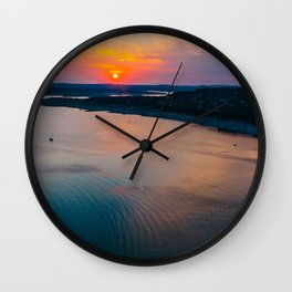 Sunset at Lake Travis Wall Clock
