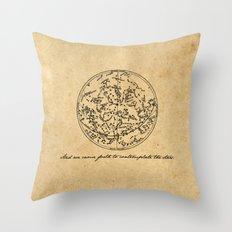 Dante's Inferno - Contemplate the Stars - Dante Alighieri Throw Pillow