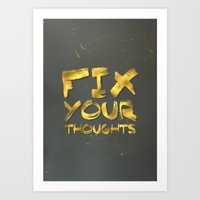 "pocketfuel Art Prints featuring Phil 4:8 ""Fix your thoughts..."" by Pocket Fuel"