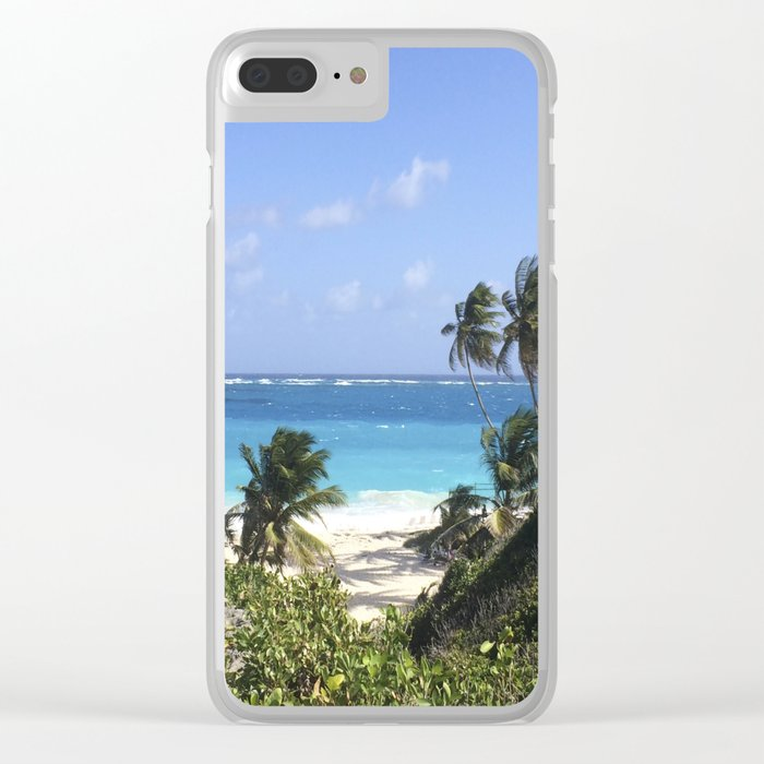 Beach Blues Clear iPhone Case