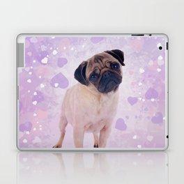 Cute Pug and heats Digital Art Laptop & iPad Skin