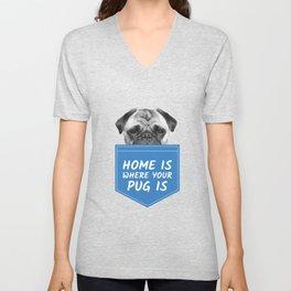 My Dog is a Pug Unisex V-Neck