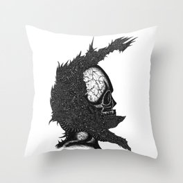 Helm of Your Own Making Throw Pillow