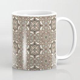 Ornamental Scroll Pattern Earthen Trail, Melon Green, Dover White & Ever Classic Gray Coffee Mug