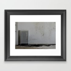 LOST PLACES - pissing radiator Framed Art Print