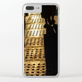 Evening shadows on the street at bazaar Clear iPhone Case