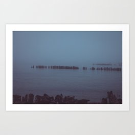 Where the Water Ends-1 Art Print