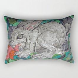 Greedy Bunny Rectangular Pillow