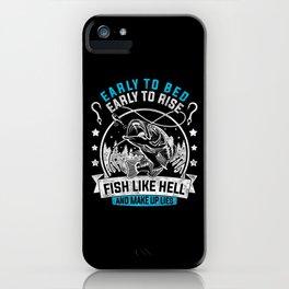 Fishing Fishing Angel Fish Harpoon Trident iPhone Case