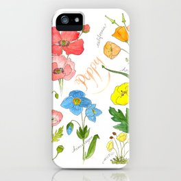 Types of Poppies iPhone Case