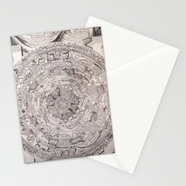 Old black and white vintage world's map 1603 Stationery Cards