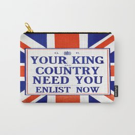 Vintage poster - Your King and Country Need You Carry-All Pouch
