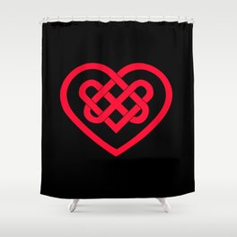 Celtic Heart (Dark) Shower Curtain