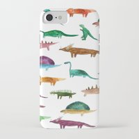 dinosaurs iPhone & iPod Cases featuring dinosaurs by victoriazorus