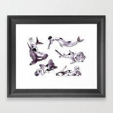For the Team Framed Art Print