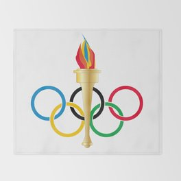 Olympic Rings Throw Blanket