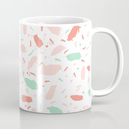 Abstract minimal dots polka dots painted sprinkles trendy modern color palette Coffee Mug