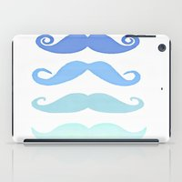 moustache iPad Cases featuring Moustache by Amy Copp