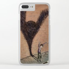 'Playing pretend' Clear iPhone Case