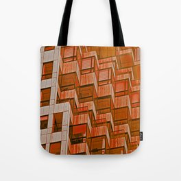 Architectural Abstract in Red Tote Bag