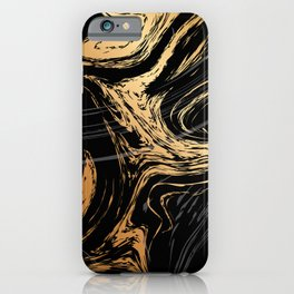 Luxurious Black and Gold Marble iPhone Case
