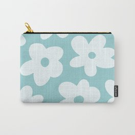 Groovy Blue Flowers Carry-All Pouch