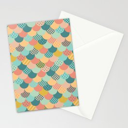 Patchwork Mermaid Scales Stationery Cards