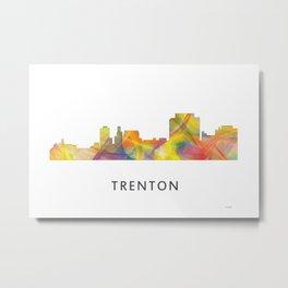 Trenton, New Jersey Skyline WB1 Metal Print