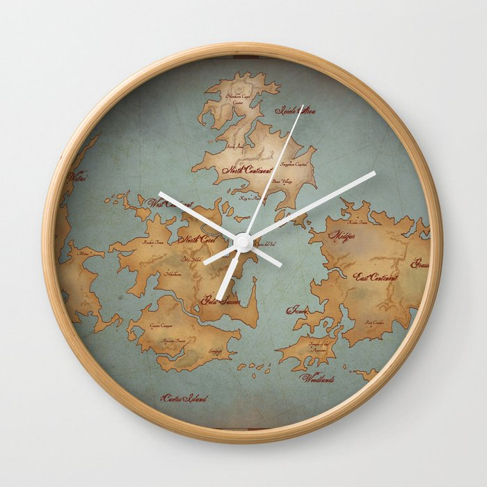 Gaia World Map- Final Fantasy VII Wall Clock by kazpalladino