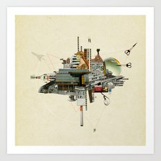 Collage City Mix 4 Art Print
